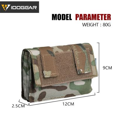 IDOGEAR Tactical FAST Helmet Cover Pouch Removable Rear Pouch NVG Utility Bag Counterweight Battery Pouch 3549 MOLLE
