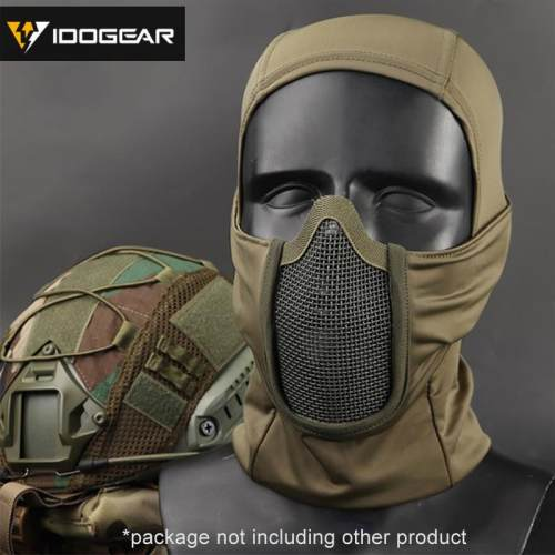 IDOGEAR Tactical Balaclava Mask MESH Full Face Airsoft Mask