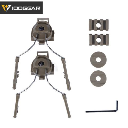 IDOGEAR Tactical Helmet Rail Adapter Set