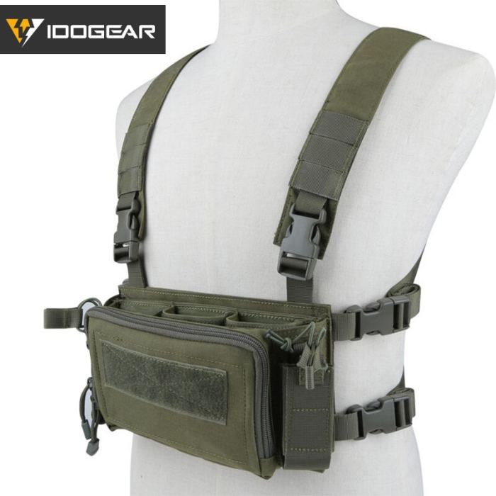 IDOGEAR Modular Tactical Chest Rig Multi-function Vest