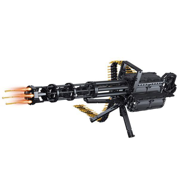 1422Pcs Gatling Building Blocks Shooting Blaster ToyS With Motor
