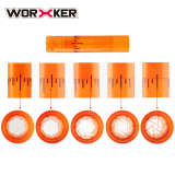 Worker Adjustable Fish Line Tube for Nerf Retaliator / Worker Prophecy / Worker A Pump and B Pump - Orange Transparent