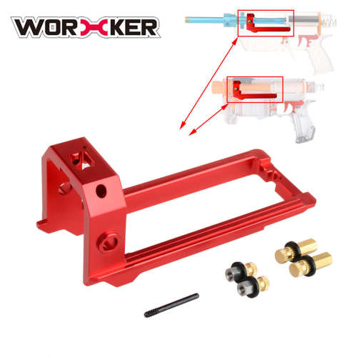 Worker Metal Slide Block for Nerf Retaliator / Worker Prophecy / Worker A Pump and B Pump - Red