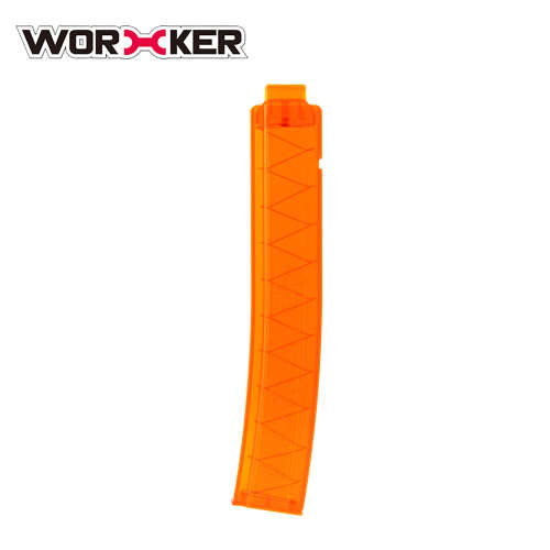 Worker 18-round Short Darts Narrow Curved Talon Mags -Transparent