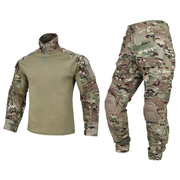 Krydex G3 BDU Tactical Combat Uniform Suit with Knee Pads