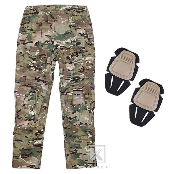 Krydex G3 BDU Tactical Combat Uniform Suit with Knee Pads