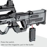 1430Pcs Simulation Weapon Building Blocks Toy Assault Blaster Model MOC Shooting Toys