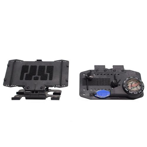 Tactical EUD CASE Universal Adjustable MOLLE Phone Case Navigation Board Information Board with Original Compass for MOLLE Vest