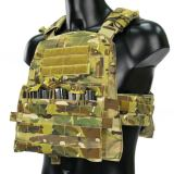 CP 500D CORDURA Tactical Triple Mag Panel JPC AVS M4 Flat CP M4 Tactical Triple Magazine Pouch MOLLE Front Panel - Multicam