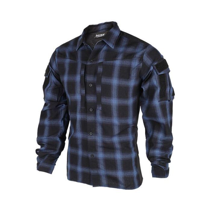 Bacraft TRN Tactical Plaid Shirt Long Sleeve Breathable Tactical Combat Commuting Shirt