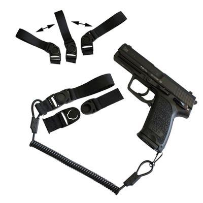 Amomax Tactical Elastic Strap Blaster Lanyard -Black