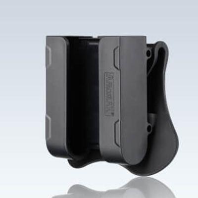 Amomax 60mm-76mm Tactical Universal 12GA Shell Slot Shotshell Holder -Black