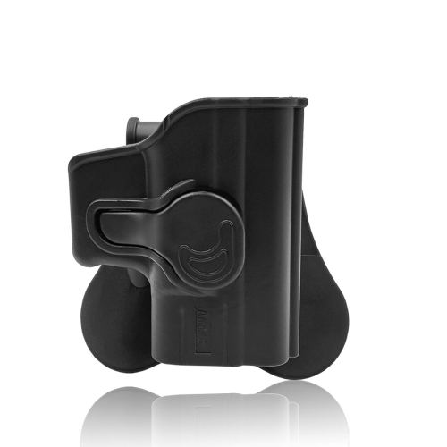 "Amomax Tactical Holster for Springfield XD/ 45ACP/ HS2000 9mm/ HS2000 SubCompact 3"" 9mm/ Girsan MC28 - Right-handed Black"