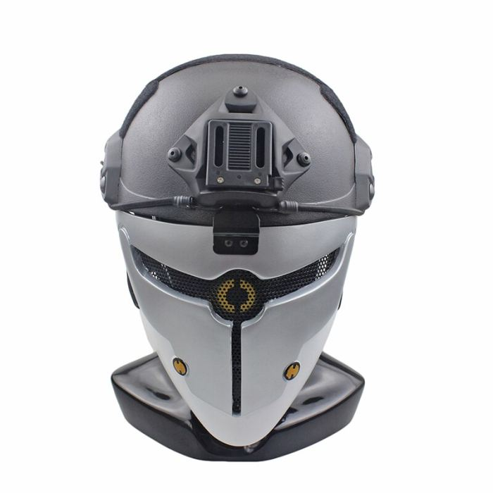 FRP Greyfox Mask Tactical Hunting Paintball Protective Mask for Halloween- Without Helmet