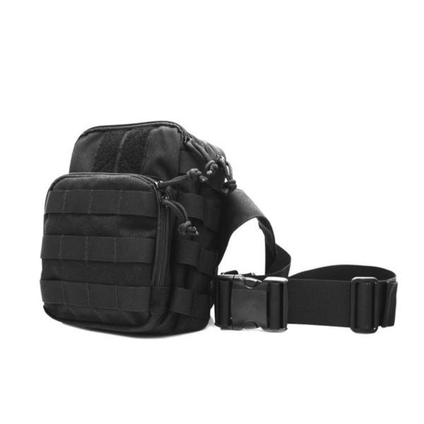 EIB Tactical Satchel Dump Pouch Outdoor Climbing Hiking Bag Multifunctional Patrol Shoulder Bag for Police- Black