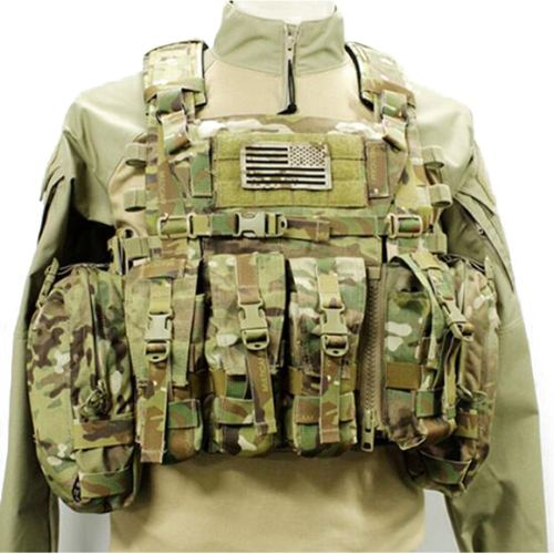 500D Cordura AVS Detachable Chest Rig Outdoor Tactical Hunting Vest Loadout Accessories- MC