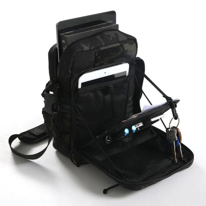 1000D Cordura Outdoor EDC Pack Tactical Molle Shoulder Commuting Bag- MC