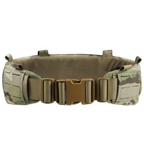 UTA AVS Low Profit Rattlesnake Belt Laser Cutting Molle Tactical Belt- MC