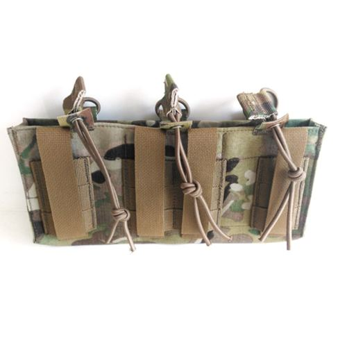 TYR-MR533 500D Cordura Rifle 762 Molle Triple Mag Pouch Tactical Hunting Accessories Pouch for Plate Carrier - MC