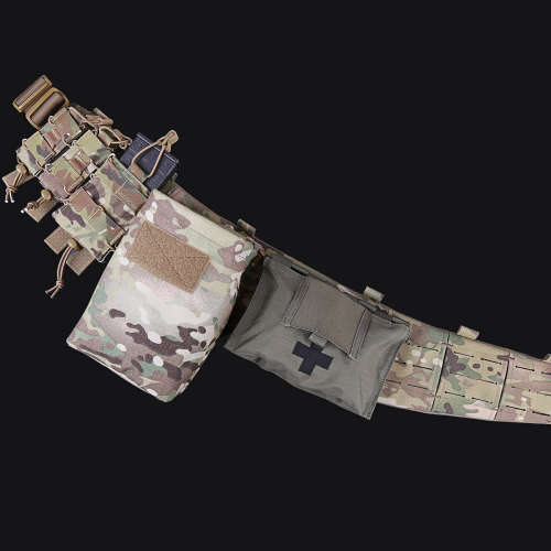 UTA AVS Low Profit Rattlesnake Belt Laser Cutting Molle Tactical Belt Set- MC
