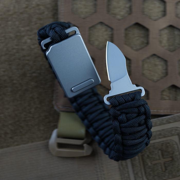 Mecarmy EK20 Titanium Buckle Knife with Sheath