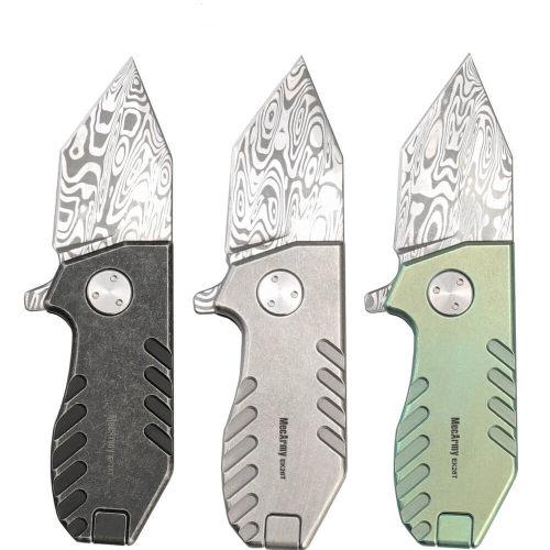 Mecarmy EK28 Damascus Limited Mini Folding Knife