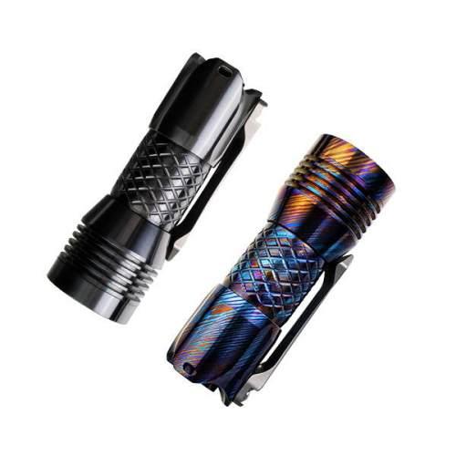 Mecarmy PS16 Limited Edition Zirconium / GeekTi 2000 Lumens EDC Flashlight