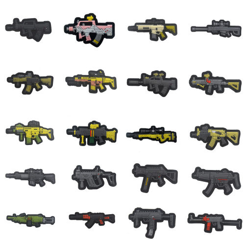 Q Version Weapon Tactical Military PVC Badge DIY Morale Patches