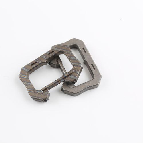 DICORIA Titanium Alloy EDC Keychain Multi-function Hang Buckle Outdoor Safety Carabiner