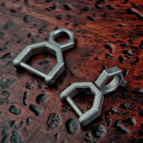 CH5 Titanium Rotatory D Shape EDC Key Ring Daily Carry Mini Tools