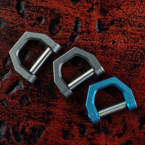 CH2 Titanium D Shape EDC Key Ring Daily Carry EDC Tools