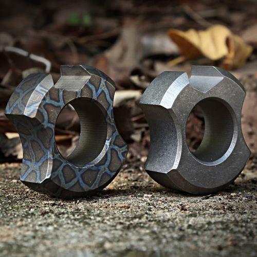 DICORIA Titanium Alloy Self-defense EDC Knuckles Corkscrew