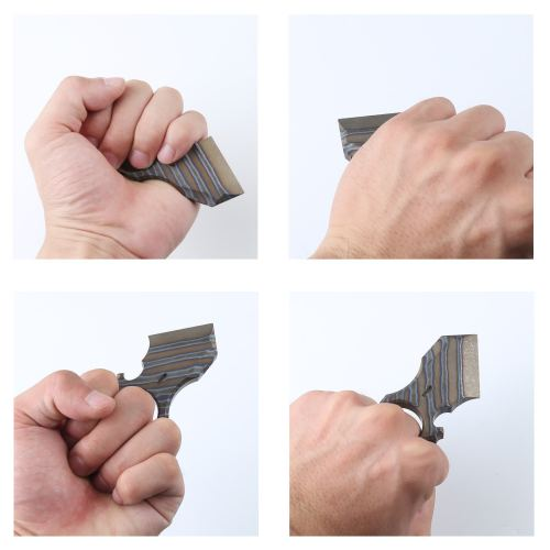 DICORIA Titanium Alloy Multi-functional Self-defence EDC Knuckles Corkscrew Knife