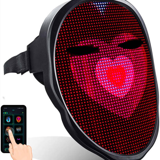 Workerkit DIY Led Mask for Adult Cosplay