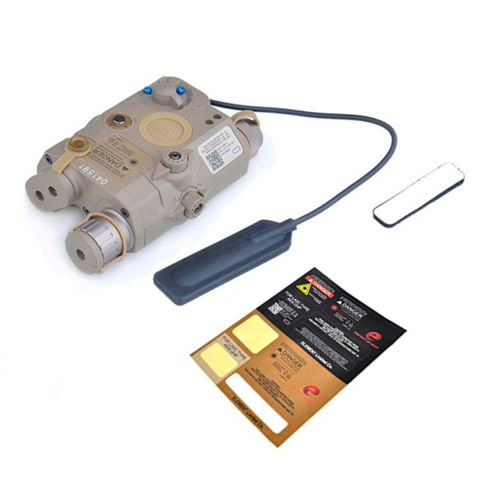 Workerkit PEQ-15 Full-featured Tactical Red Laser Battery Box Laser Pointer LED Lighting