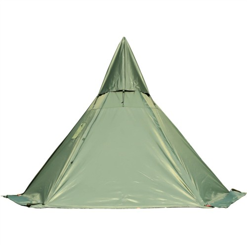 Camping Hot Tent Tipi With Stove Jack For 2-4 Person 4 Season 2 Doors 6 Sides