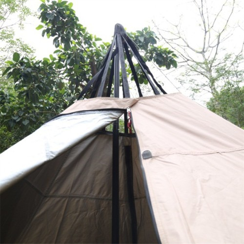 Solo Hot Tent Tipi With Stove Jack For 1 Person 4 Season 2 Doors 6 Sides