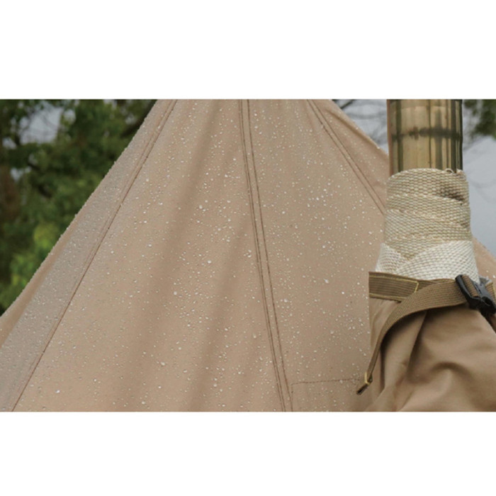 TC Canvas Hot Tent With Stove Jack For Camping 4 Season 2-4 Person