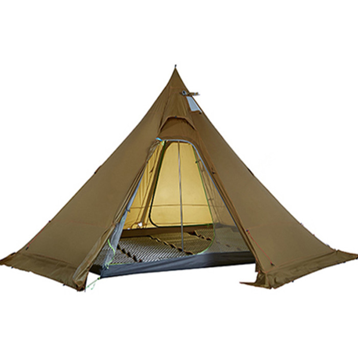 20D Utralight Hot Tent Tipi With Stove Jack For 4-5 Person