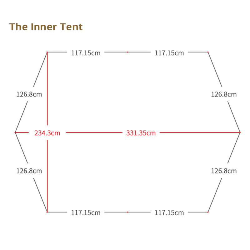 the size of inner tent