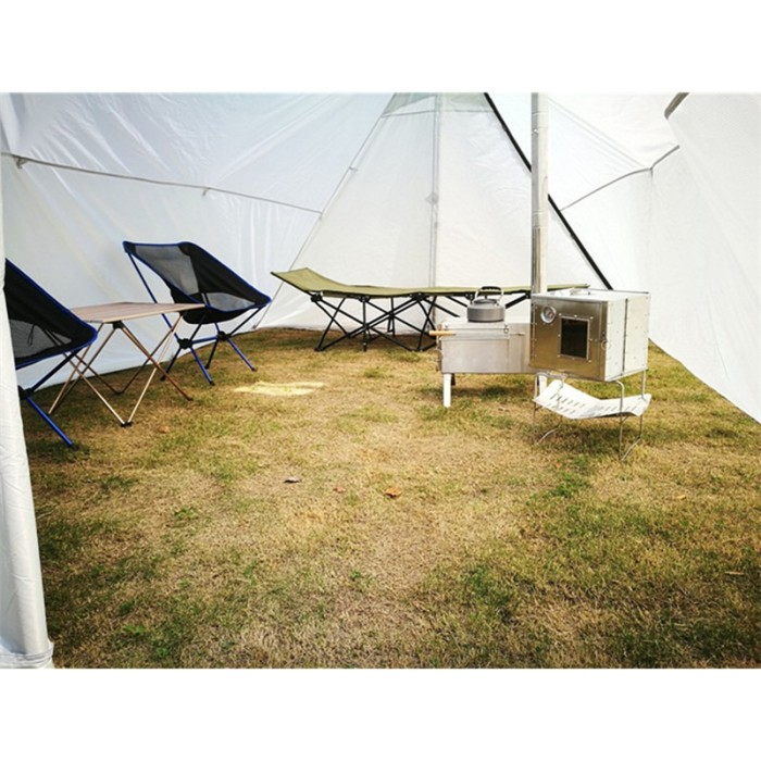 A-shaped Hot Tent With Stove Jack For 4-5 Person