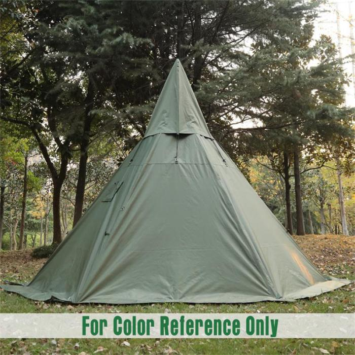 Large Hot Tent With Stove Jack For Family 5-6 Person Camping And Bushcraft 4 Season 2 Doors