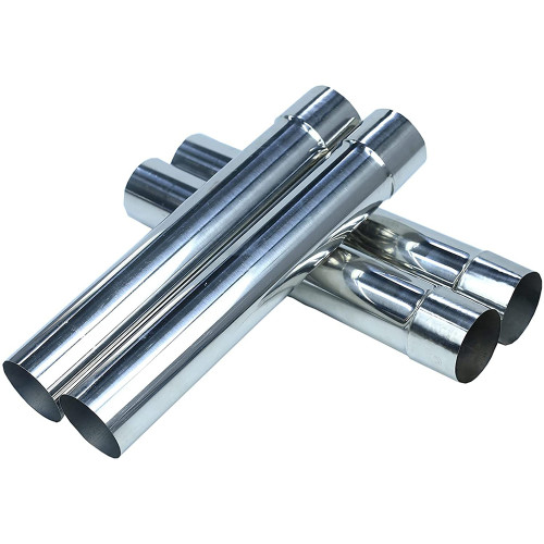 Tent Stove Pipe (4 pcs) Stainless Steel Chimney, Diameter 2.36inch
