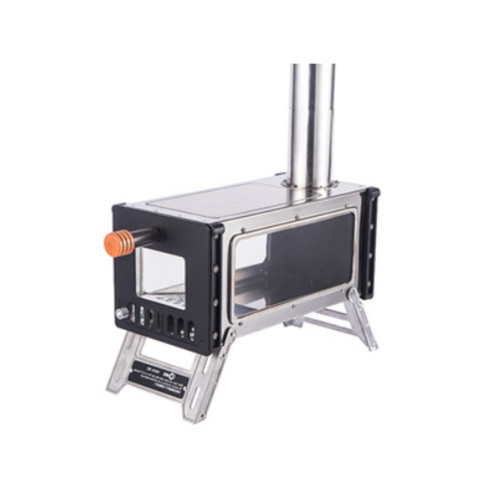 Camping Tent Stove Stainless Steel Wood Burning Stove Camping Cooking Heater