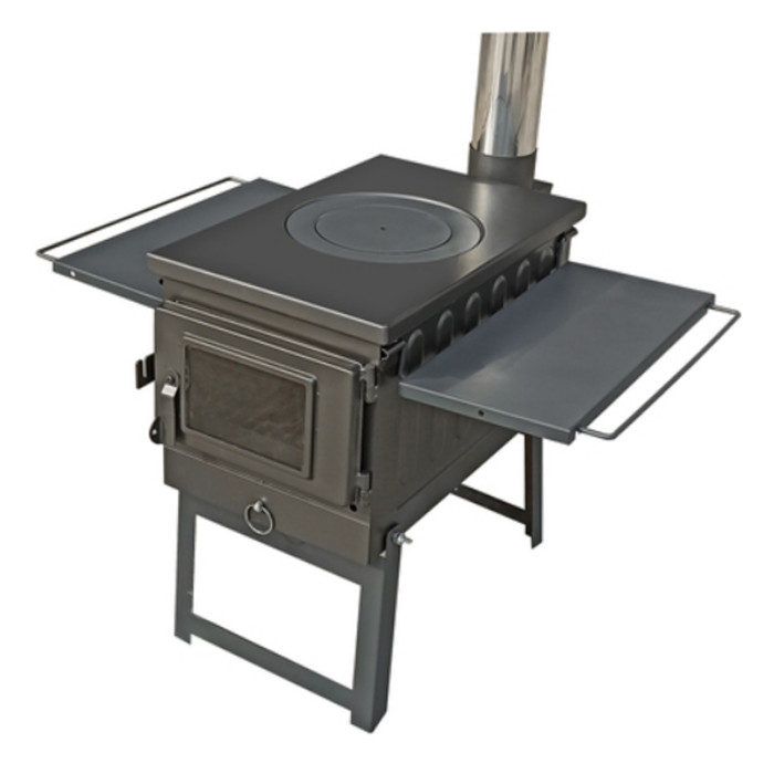 Camping Outdoor Wood Burning Stove For Cooking And BBQ Portable And Foldable Design