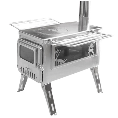 Hot Tent Stove For Camping Bushcraft Cooking Heating in Cold Weather