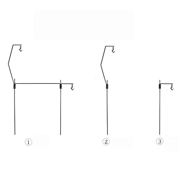 Camping Light Holder Titanium Detachable Lamp Stand Gears Hanging Rack