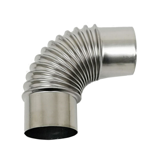 Stove Pipe 90 Degree Elbow 2.36inch/6cm Diameter Stainless Steel Tube Connection