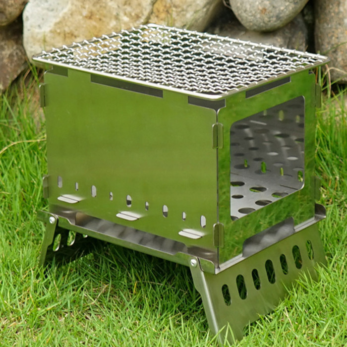 Collapsible BBQ Stove Folding Portable Cooking Grill Camping Outdoor