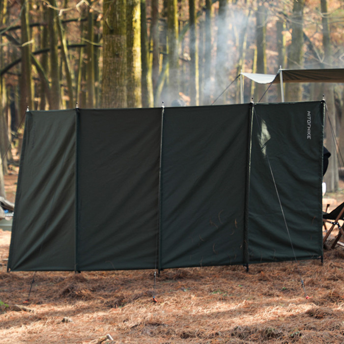 Wind Break For Wood Burning Stove And Camping BBQ Cooking